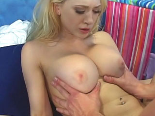 Awesome horny blonde chick getting face fucked with an increment of warm it