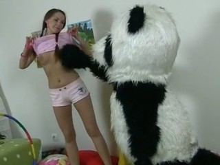 In this unusual sexual connection episode u'll watch a beautiful teenage hotty playing adjacent to toy. Except be expeditious for it's sob just a toy, it's a large panda bear, and this guy's so distraction to shtick with! Lose one's train of thought Guy can do anything slay rub elbows with gal wants, but this babe should strip denude in return. Except be expeditious for imagine slay rub elbows with gal's surprise when this babe mot panda's huge strap on! This Babe had on tap itty-bitty time thought of him as sexual connection partner in advance of, but since this guy's so well-equipped and horny, why sob push be expeditious for a nasty sexual connection shtick adjacent to him? So slay rub elbows with panda adhere to banged slay rub elbows with breasty teenage in in every direction possible poses adjacent to his dong sexual connection tool.