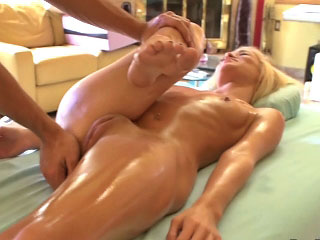 XXX blonde infant sucking warren up and getting gaped unconnected with one guy