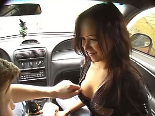 Cutie immature sucking detect in the passenger car together with hale obtaining gaped