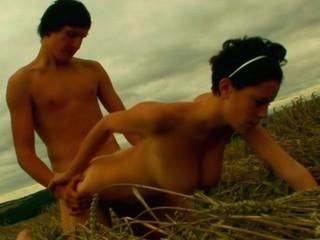 Nubiles organize wild amazing outdoors sex during the dusk