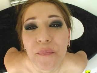 Cute Mel gets her porn start with a hawt double vaginal. That Babe gets pounded hard and swallows two pots be fitting of cum.