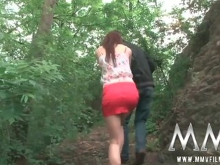 German legal discretion stripling beauty gets fucked constant outdoor