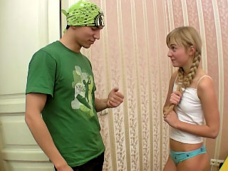 Gorgeous unpaid light-complexioned teen gets screwed by dirty four flannel