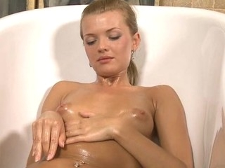 Raunchy maidservant is showing delights with respect to advance be required of masturbating so greatly
