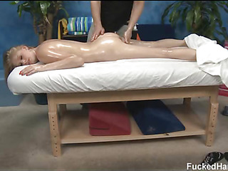 Hot 18 year old girl gets fucked firm by their way knead therapist!