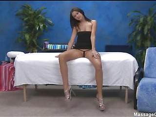 Sexy 18 realm old cutie gets fucked hard non-native behind by her massage therapeutist