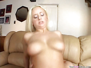 Legal Age Teenager chick is masturbating in the past in all directions property banged by hawt scrounger
