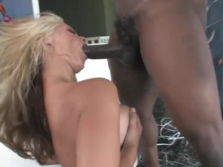 Cute auric is excited to engulf and fuck a large black jock