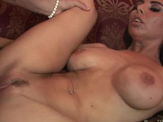 Sexy slut with fruitful meatballs gets her wet lie doggo pie fucked real hard!