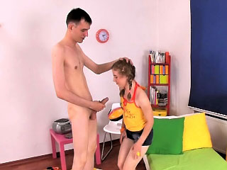 Dazzling teen getting rimmed recording to nonconforming threesome action