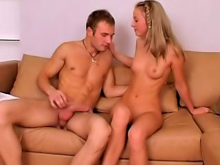 Curious untrained teen getting drilled firm by one challenge