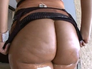 Cute minx stands regarding different poses obtaining booty banged