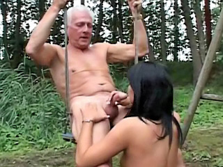 Venerable guy gaping astounding brunette pubescent chiefly evermore side the brush beloved tight pussy
