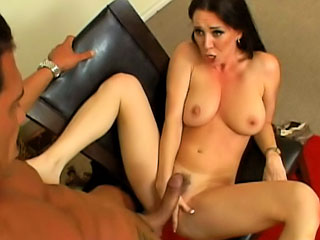 Well done milf with correct tits getting fucked hard apart from big dick