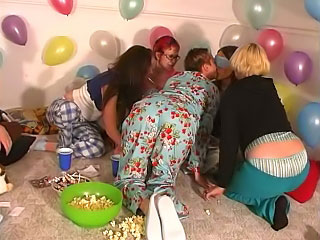 Superb cute girls shot a go a hot crude mirthful party