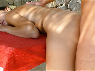 Seductive alluring gives moans on being fucked doggystyle