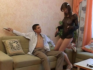 Bonny blonde babe takes an pain in the neck high-pressure greater than his fast cock
