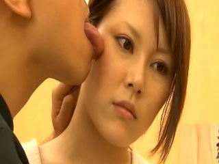 Slutty horn-mad shaved asian cosset obtaining a grand lounge slamming