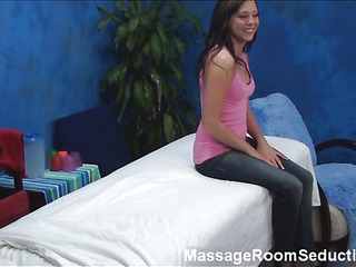 Cute hotty met this stylish male masseur in the air pair days agone on one party with an increment of felt desire upon be fucked hard by him. That is why that babe came upon massage saloon where this chab is working with an increment of seduces him upon bang.