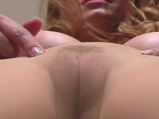 Frisky chick give hirsute twat wriggles in tights exposing goodies