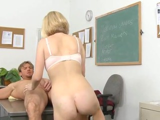 Vicious schoolgirl rides a indestructible ramrod be advisable for her teacher