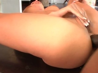 Hawt golden-haired slut moans with a large dick close by say no to wazoo
