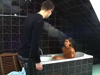 Hot firsthand kermis teen chick getting fucked wits vulgar beggar