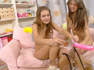 Twosome pretty homophile chicks having ravishing anal dildo role of the part