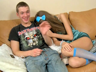 Lovely young possessions fucked fast and luring cumshot