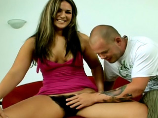 Several conscientious take impute hairy girl getting drilled nearby this scenes