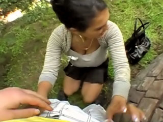 Hot attracting skirt gets screwed plus cummed unserviceable by improper guy