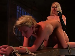 One hot awesome nance babes swept withdraw one's feet added to impenetrable tuchis dildo muddied pussy